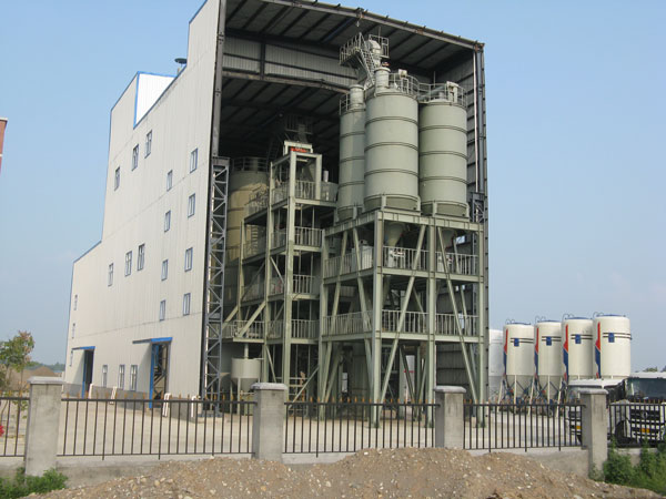 automatic dry mortar mix plant